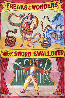 Circus Photograph - Sideshow Poster, C1975 by Granger