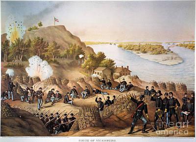 Siege Of Vicksburg, 1863 Print by Granger