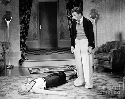 Thelma Photograph - Silent Film Still: Fainting by Granger