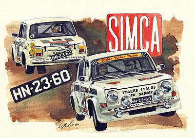 Simca 1000 Rallye 2 Print by Yoshiharu Miyakawa