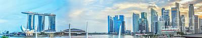 Singapore Skyline Print by MotHaiBaPhoto Prints