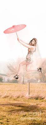 Floating Girl Photograph - Sky Dance by Jorgo Photography - Wall Art Gallery