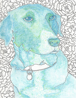 Dog Owner Mixed Media - Smell The Flowers by Barbara  Campbell