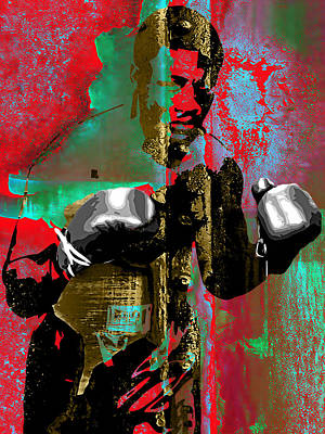Boxer Mixed Media - Smokin Joe Frazier Collection by Marvin Blaine