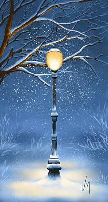 Digital Painting - Snow by Veronica Minozzi