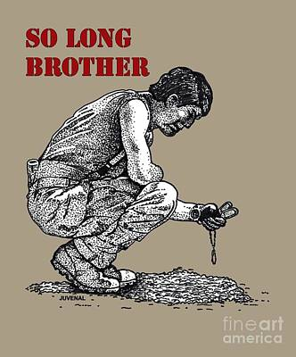 So Long Brother Print by Joseph Juvenal