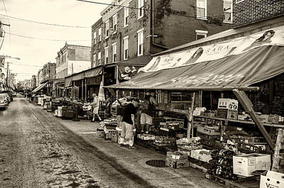 South Philly - Italian Market Print by Bill Cannon