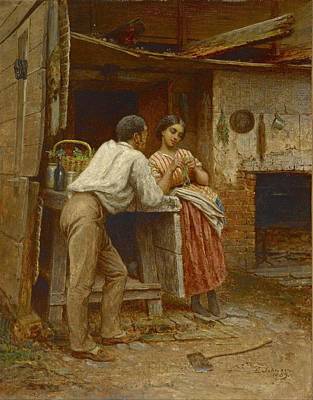 Eastman Johnson Painting - Southern Courtship by Eastman Johnson