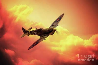 Spitfire Digital Art - Spitfire by J Biggadike