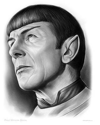 Spock Print by Greg Joens