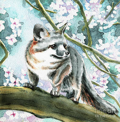 Spring Fox Print by Antony Galbraith