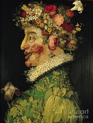 Raspberry Painting - Spring by Giuseppe Arcimboldo