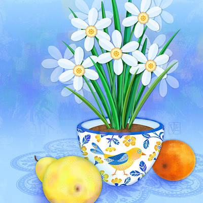 Spring's Promise Print by Valerie Drake Lesiak