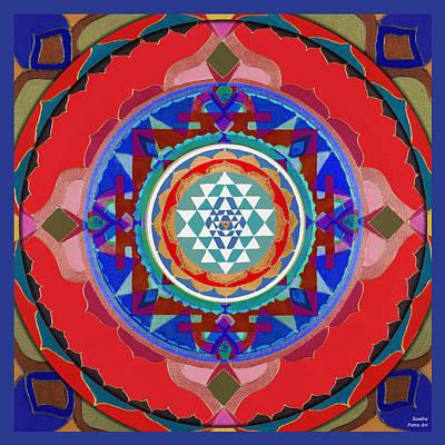 Sri Yantra Painting - Sri Yantra Magic by Sandra Petra Art