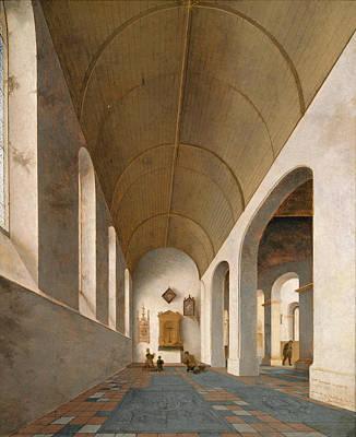 Painting - St Antoniuskapel In The St Janskerk Utrecht by Pieter Jansz Saenredam