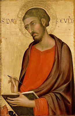 Simone Martini Painting - St Luke by Simone Martini