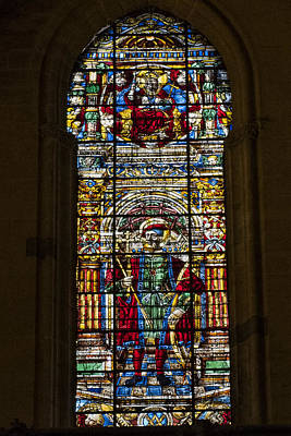Retablo Photograph - Stained Glass - Cathedral Of Seville - Seville Spain by Jon Berghoff