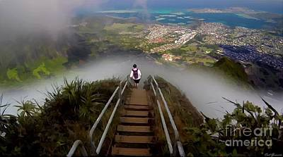 Chaise Digital Art - Stairway To Heaven Hawaii 3 by Carl Gouveia