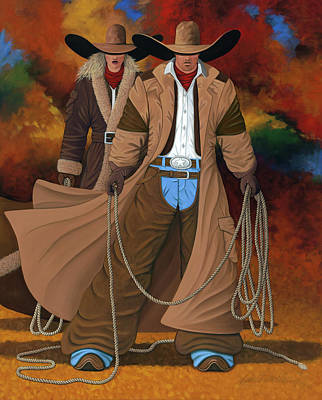 Cowgirls Painting - Stand By Your Man by Lance Headlee
