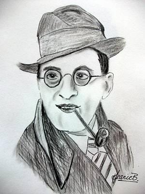 Icon Drawing - Stanley Holloway by Jean Billsdon