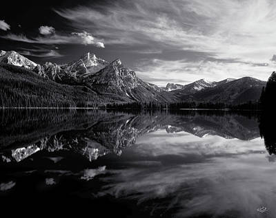 Sawtooth Photograph - Stanley Lake by Leland D Howard