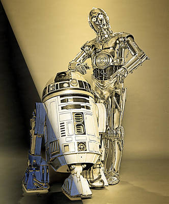 Star Wars C3po And R2d2 Collection Print by Marvin Blaine
