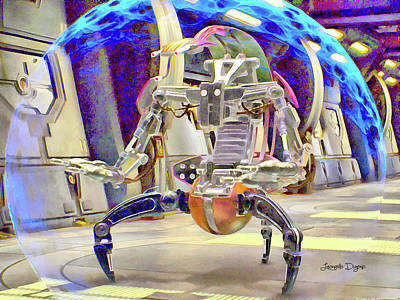 New Painting - Star Wars Destroyer Droid by Leonardo Digenio