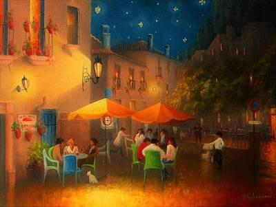 Meal Painting - Starry Night Cafe Society by Joe Gilronan