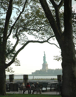 Statue Of Liberty From Ellis Island Print by Frank Mari
