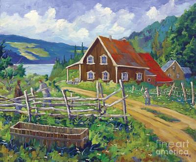 Painting - Ste Rose Du Nord  by Richard T Pranke