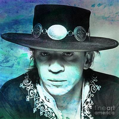 Stratocaster Mixed Media - Stevie Ray Vaughan by John Malone