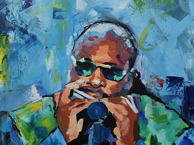 Pop Icon Painting - Stevie Wonder by Richard Day