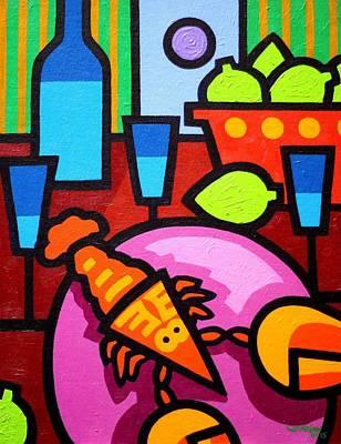 Wine Glasses Painting - Still Life At Window  by John  Nolan