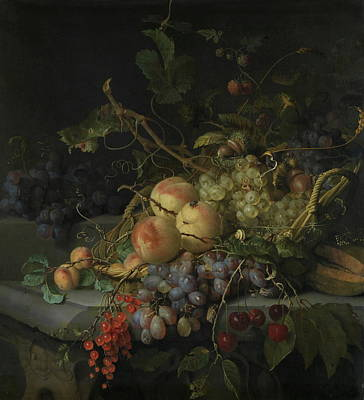 Walscapelle Painting - Still Life With Fruit by Jacob van Walscapelle