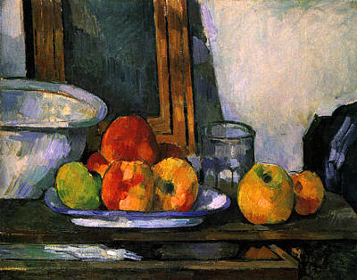 France Painting - Still Life With Open Drawer by Paul Cezanne