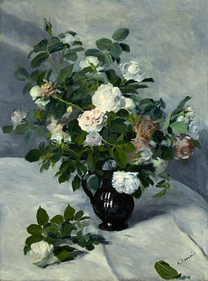 Roses Painting - Still Life With Roses by Pierre-Auguste Renoir