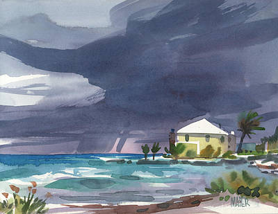 Storms Painting - Storm Over Key West by Donald Maier