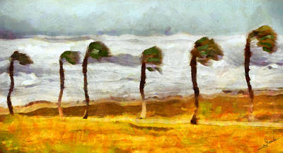 Floral Painting - Stormy Weather by George Rossidis