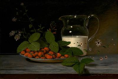Peale Painting - Strawberries And Cream by Mountain Dreams