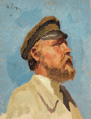 Male Painting - Study Of A Man by Nicholas Roerich