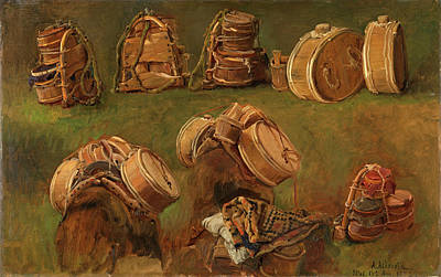 Anders Askevold Painting - Study Of Pack Saddles And Other Objects by Anders Askevold
