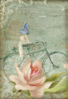 Upscale Painting - Summer At Cape May - Bicycle by Audrey Jeanne Roberts