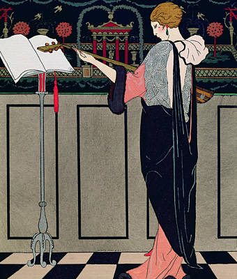 Ecole Drawing - Summer Evening Wear From Art Gout Beaute by Georges Barbier