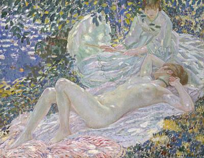Frederick Carl Frieseke Painting - Summer by Frederick Carl Frieseke