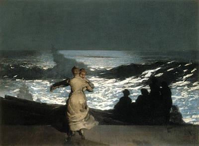 Summer Night Print by Winslow Homer