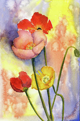 Summer Poppies Print by Vickey Swenson