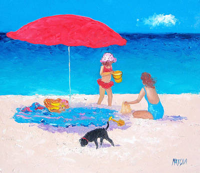 Beach Painting - Summer Vacation by Jan Matson