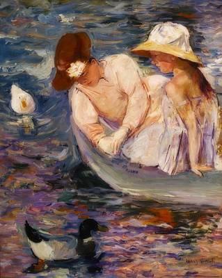 Duck Painting - Summertime by Mary Cassatt