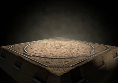 Sumo Digital Art - Sumo Ring Empty by Allan Swart
