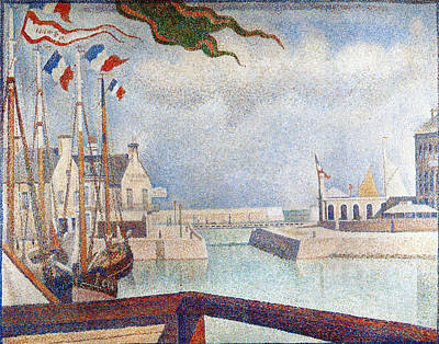 Standard Painting - Sunday In Port-en-bessin by Georges Seurat